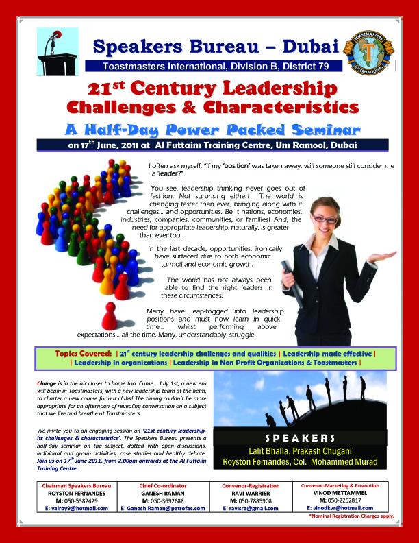 21st Century Leadership Challenges & Characteristics